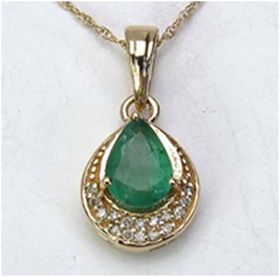 *Fine Jewelry 14K Gold, 2.14CT Zambian Emerald Pears