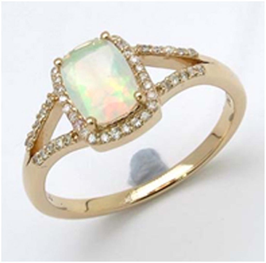 *Fine Jewelry 14K Gold, 2.50CT Ethiopian Opal Faceted