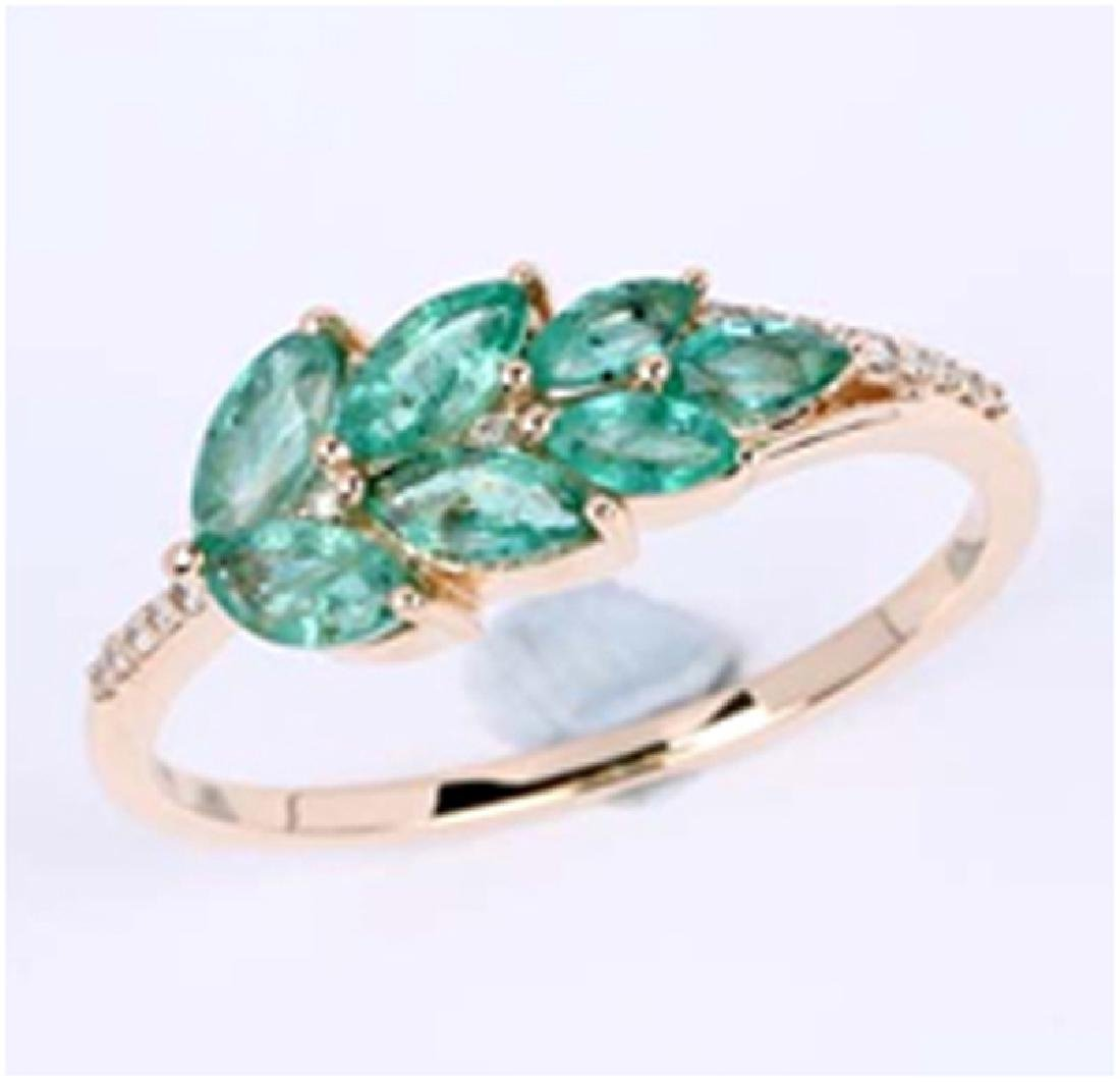 *Fine Jewelry 14K Gold, 2.20CT Zambian Emerald Marquise