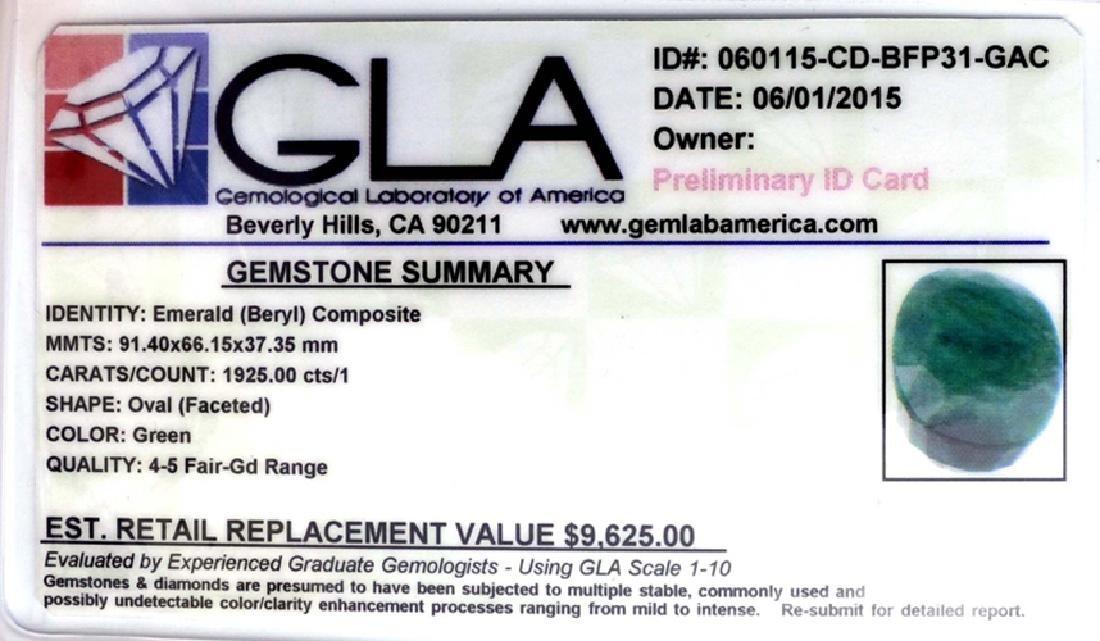 APP: 9.6k 1,925.00CT Oval Cut Green Beryl Emerald - 3