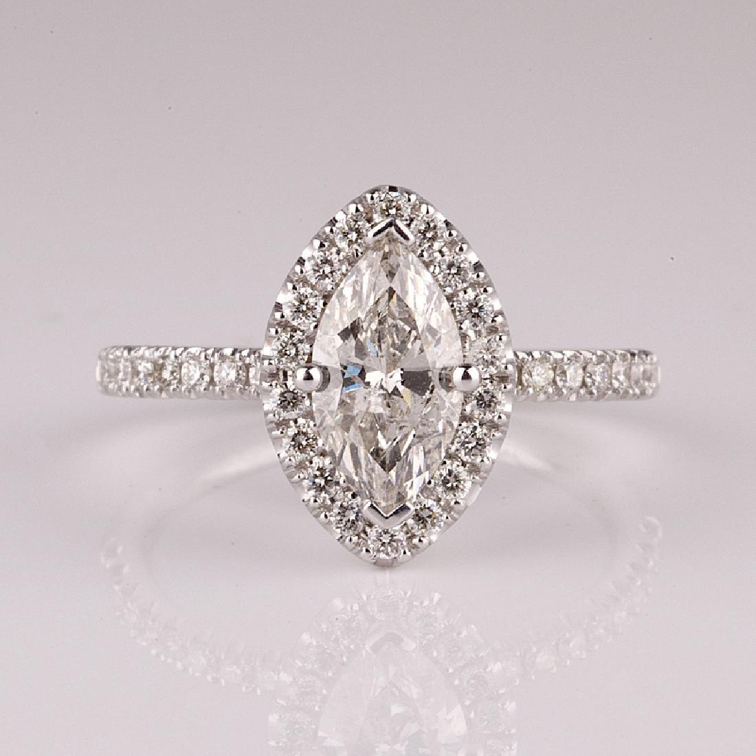 APP: 5.5k *14 kt. White Gold, 1.26CT Diamond Ring (NG