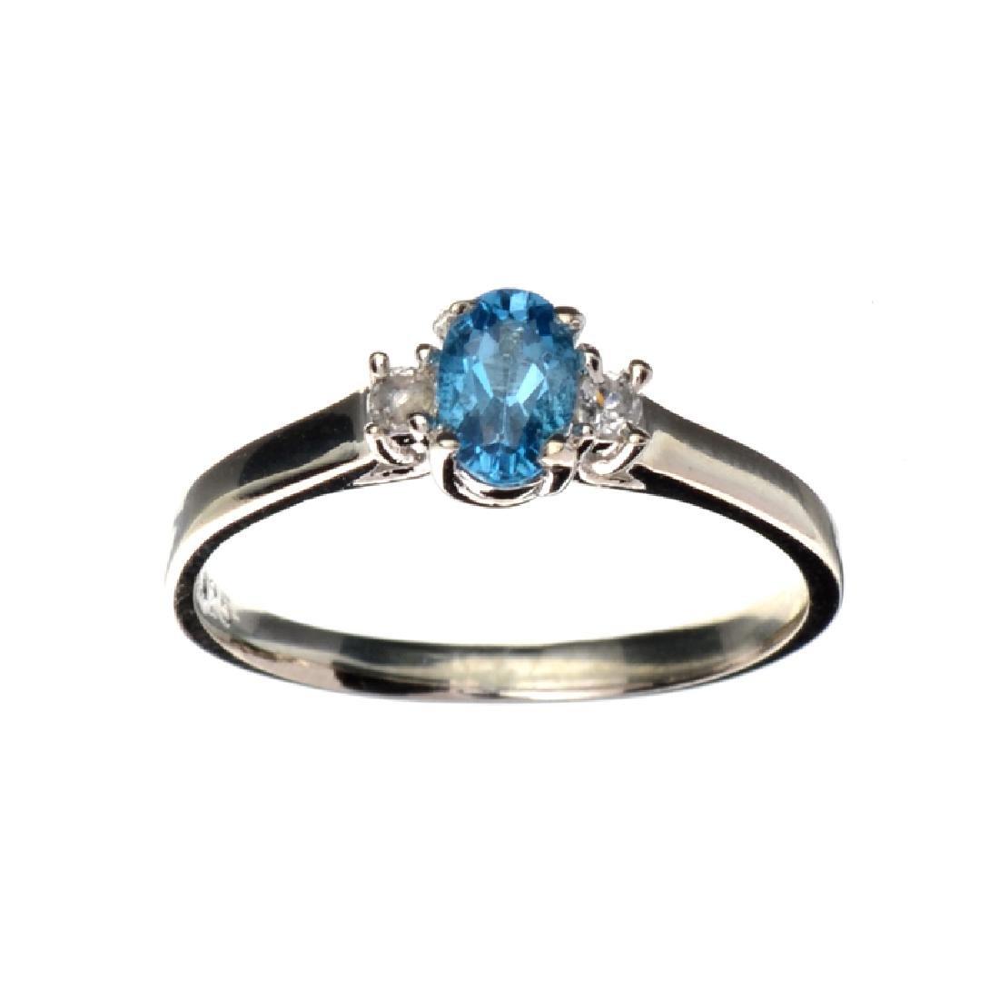 APP: 0.6k Fine Jewelry 0.62CT Oval Cut Blue Topaz And