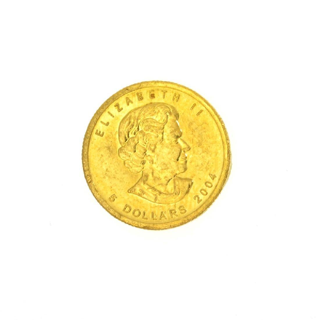 2004 1/10 oz Canada Gold Coin