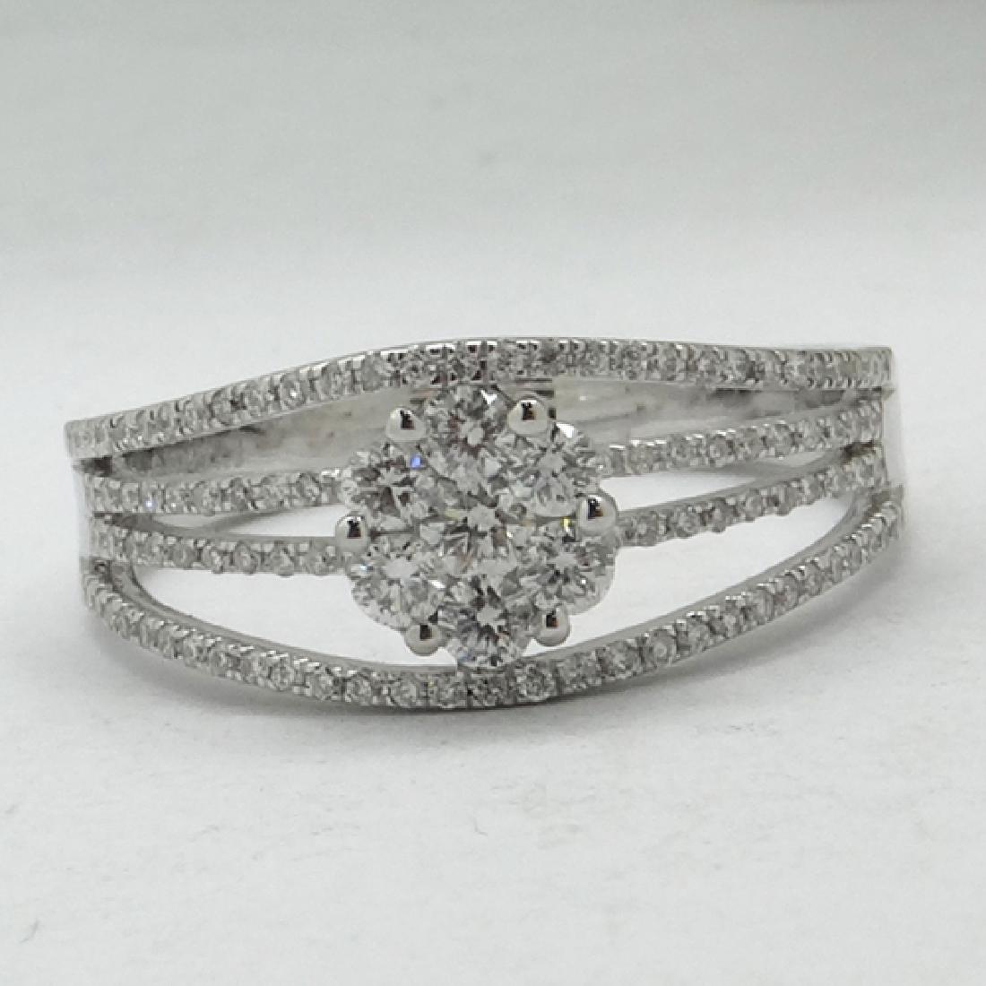 *Fine Jewelry 14 kt. White Gold, 0.57CT Round Cut