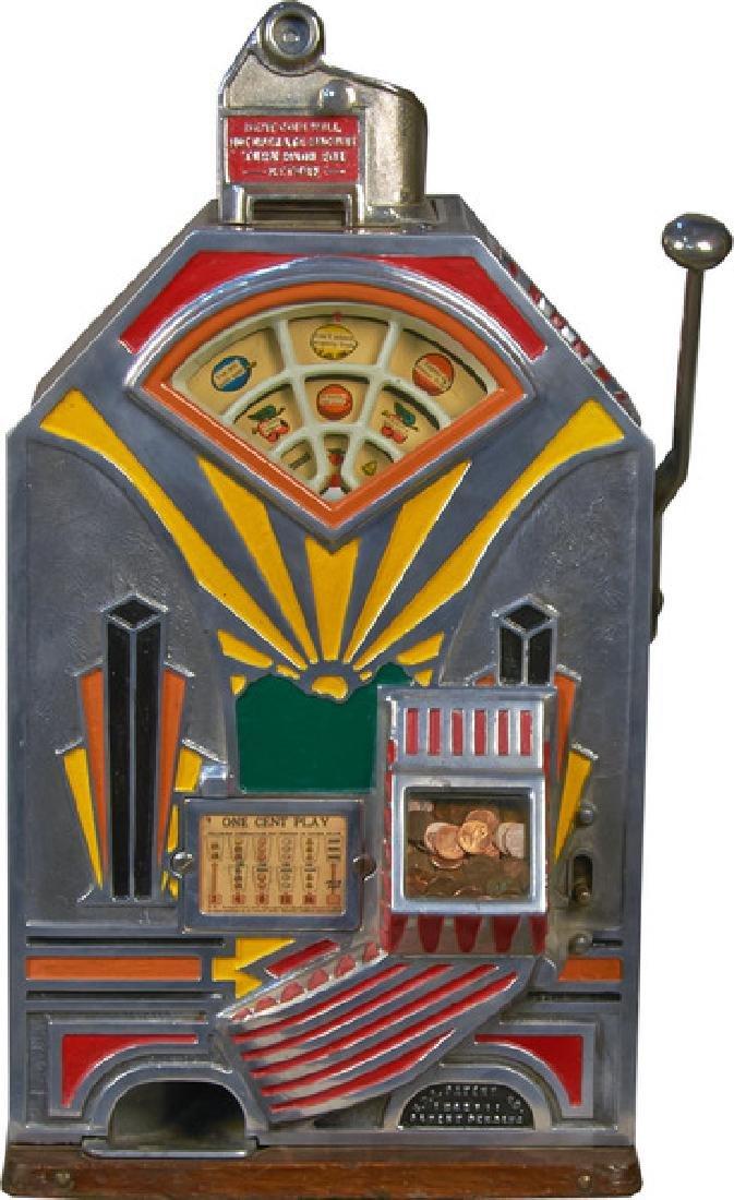 1 Cent O.D. Jennings Slot Machine c1932, w/ keys -P-Due