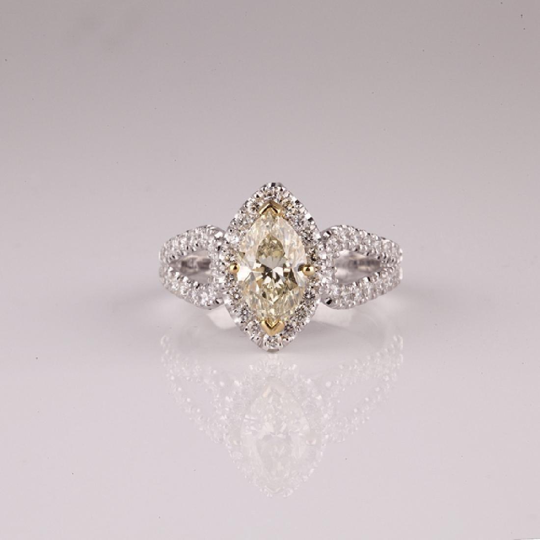 APP: 8.7k *14 kt. Two Tone Gold, 1.21CT Diamond Ring