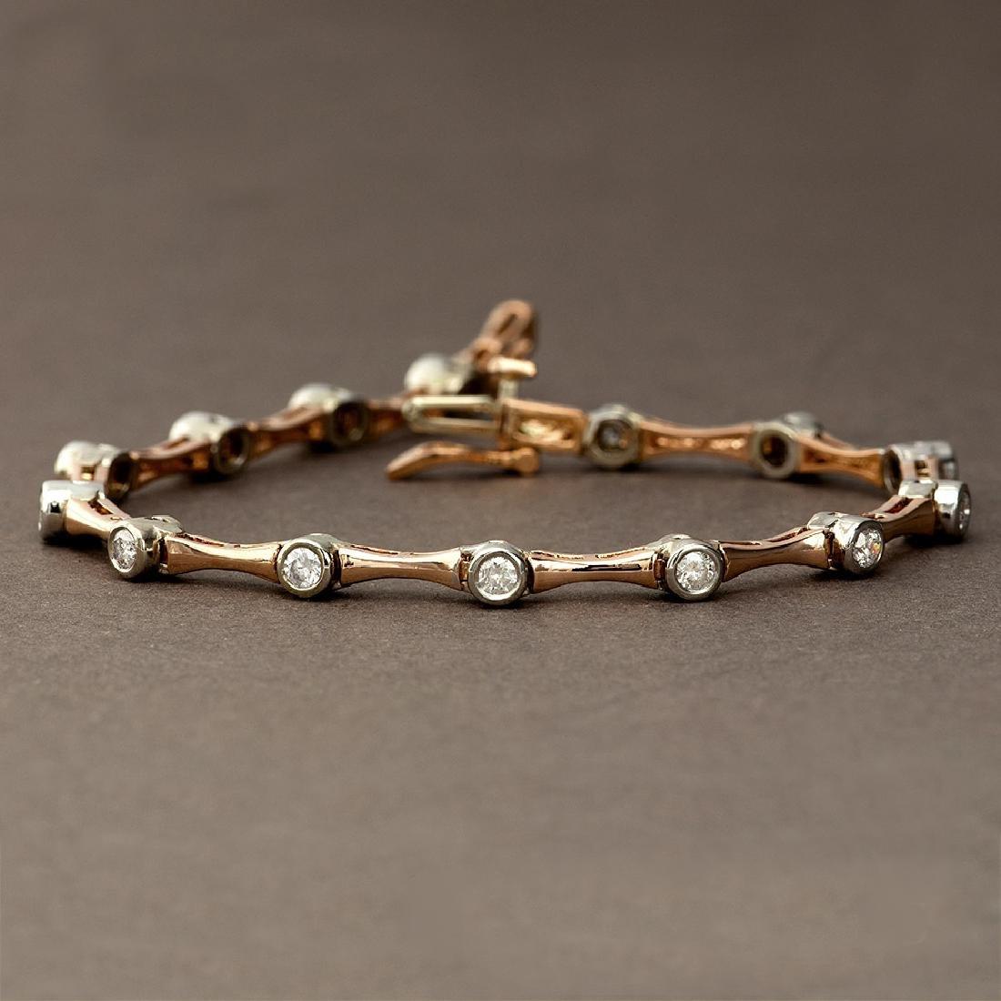 APP: 4.8k *Fine Jewelry 14KT Two Tone Gold, 1.00CT