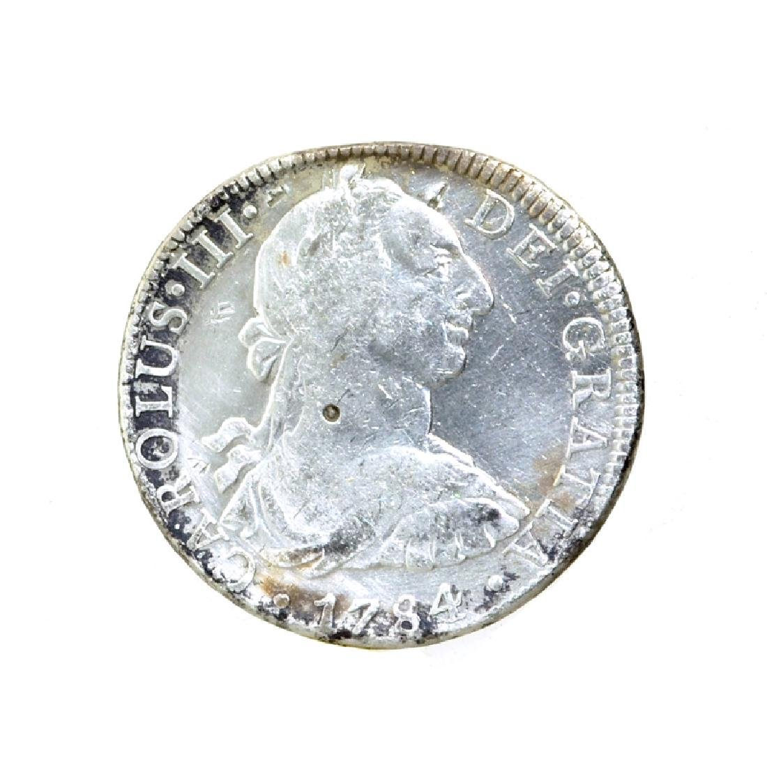 1784 Extremely Rare Eight Reales American First Silver