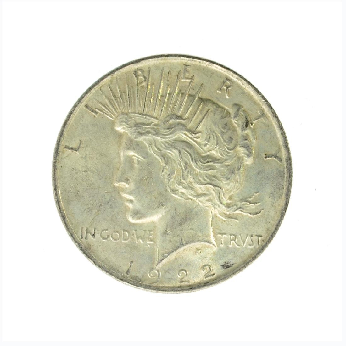 1922 Peace Silver Dollar Coin