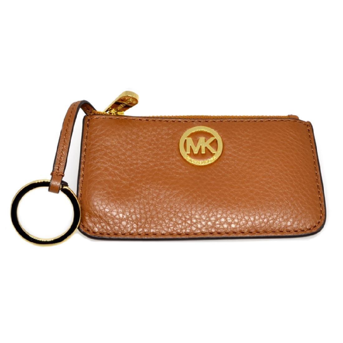 ^Brand New Michael Kors Fulton Luggage Leather Key