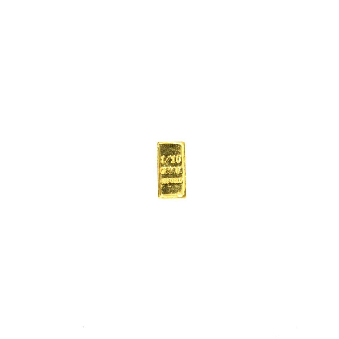 0.10 (1/10) Gram .999 Fine Gold Bar
