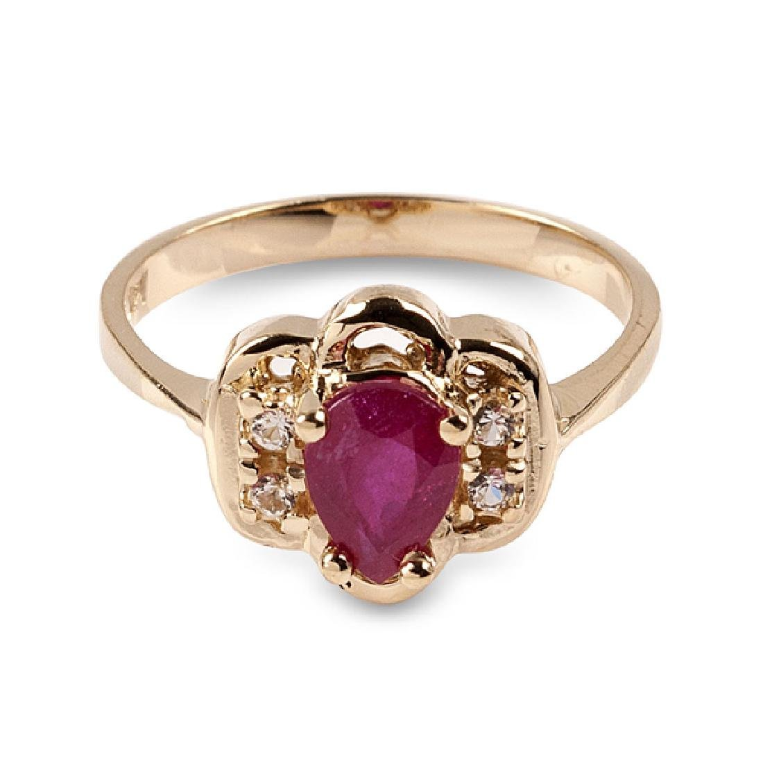 APP: 1.1k 14 kt. Gold, 1.30CT Ruby And White Sapphire