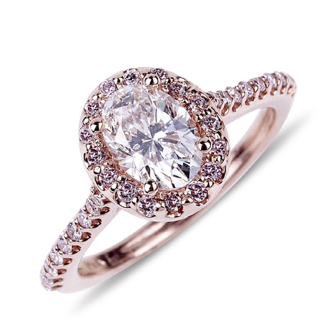 APP: 34.2k *14 kt. Gold, 1.08CT Oval Cut Diamond And
