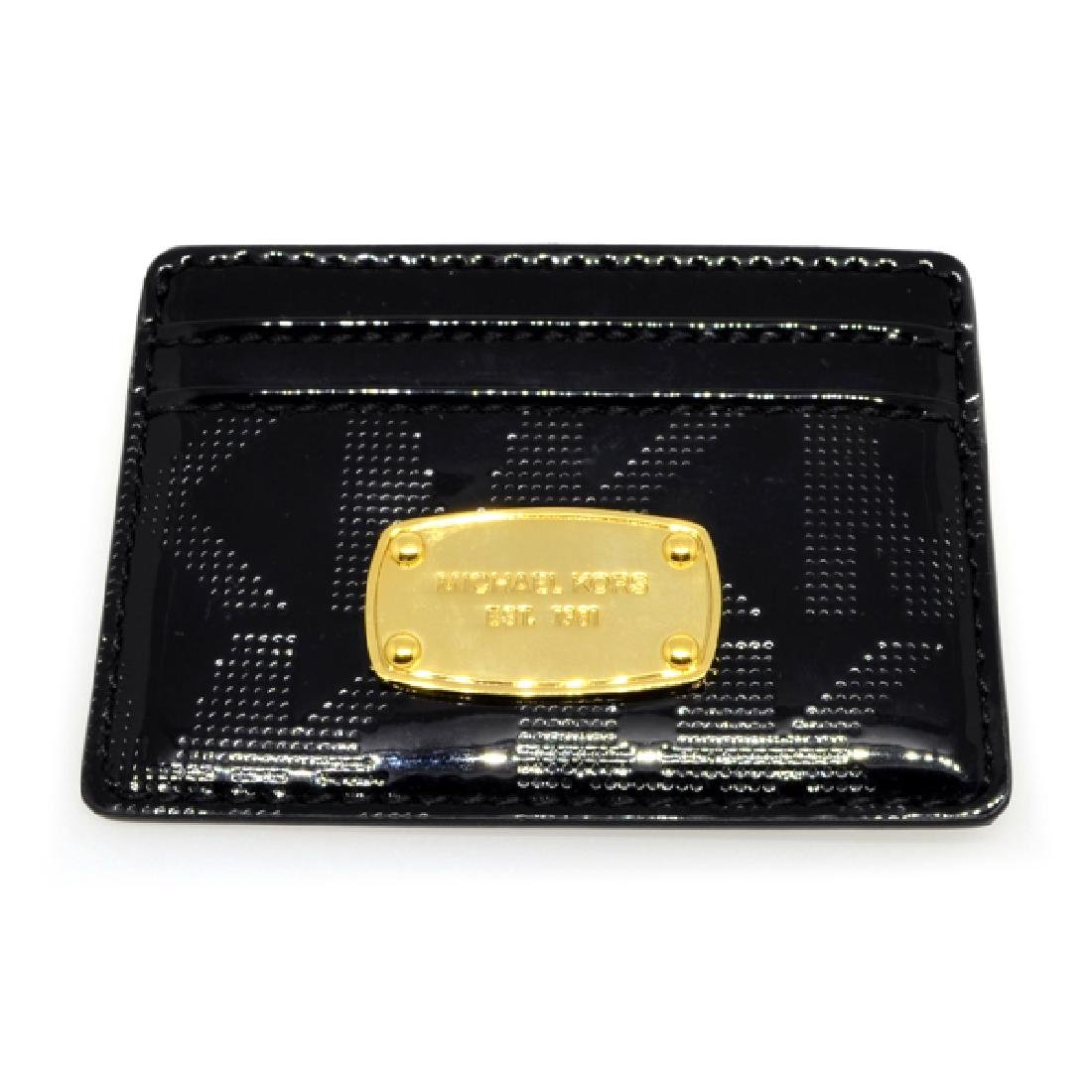 ^Brand New Michael Kors Jet Set Black NS Card Case