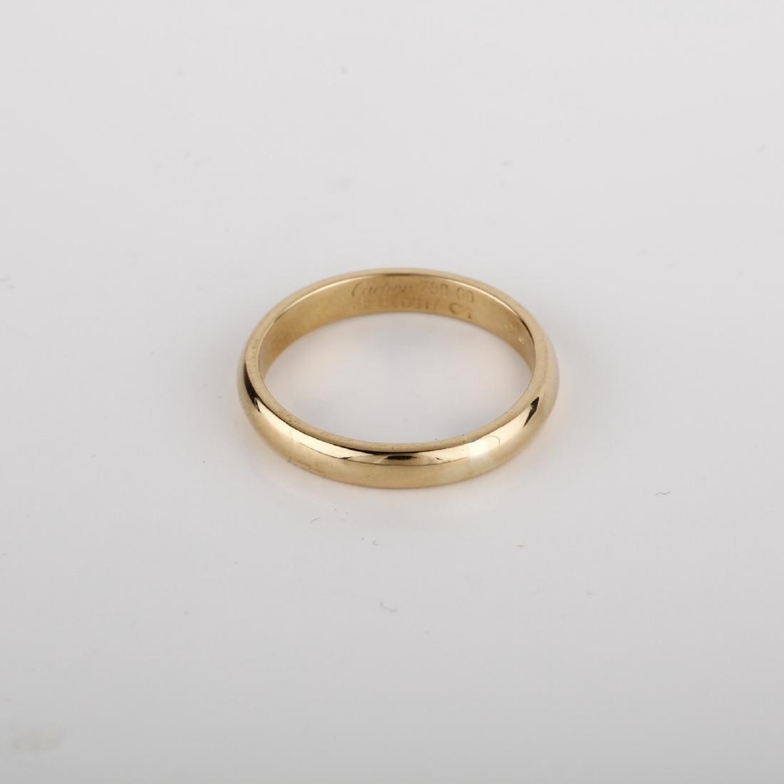 *Fine Jewelry 18KT Gold, 4mm mens Cartier Band (FJ