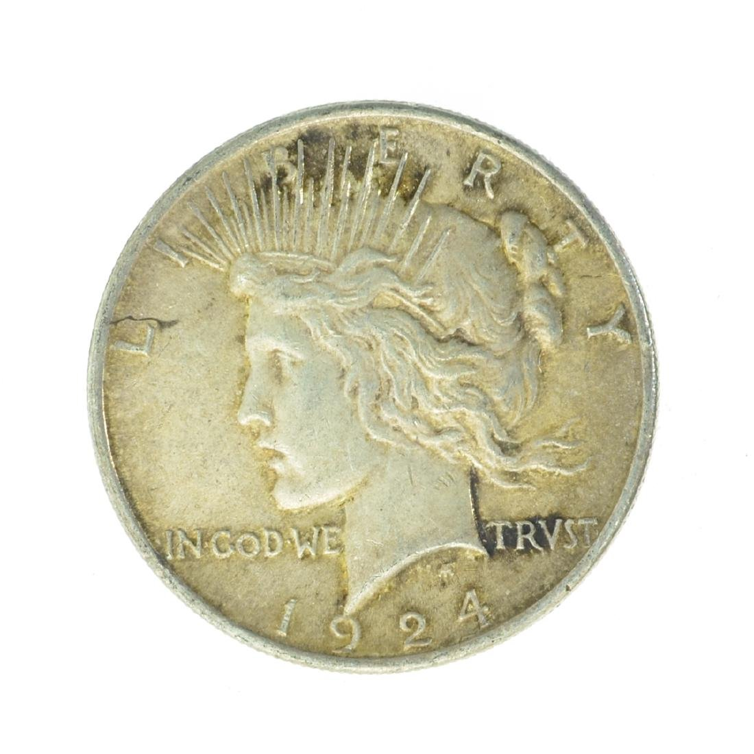 1924 Peace Silver Dollar Coin