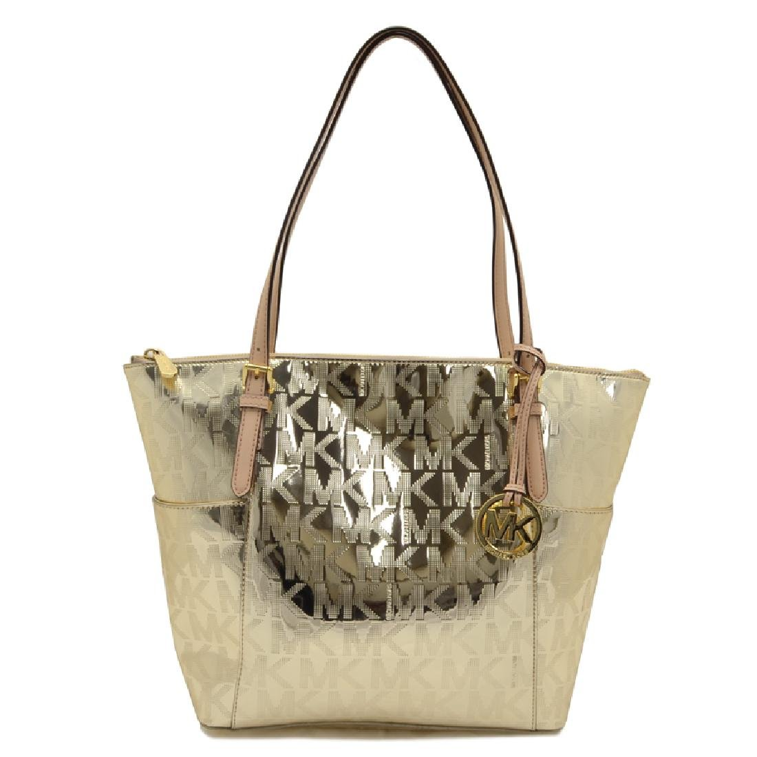 Brand New Michael Kors Jet Set Item NS East West Pale