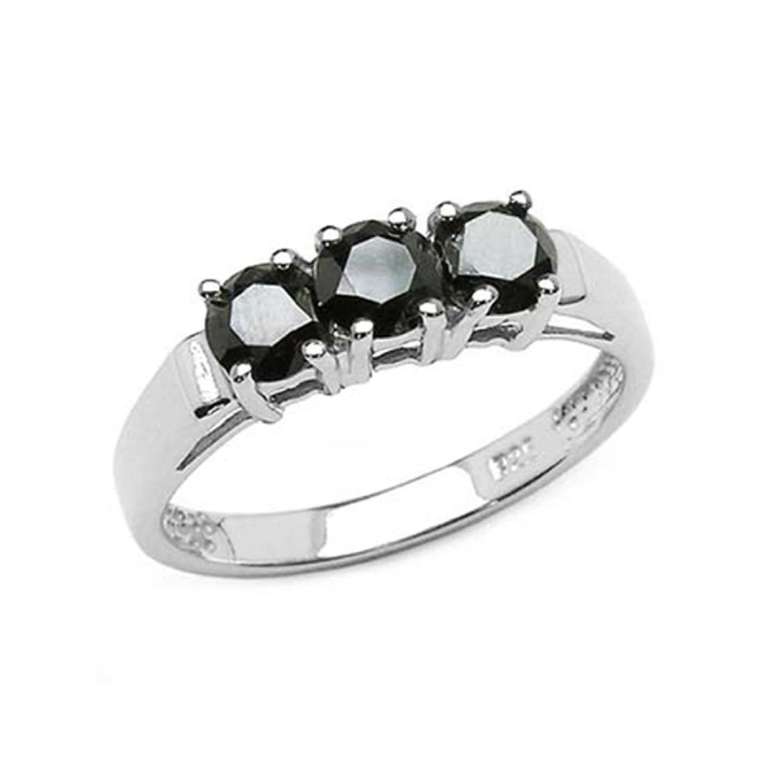 *Fine Jewelry 1.19CT Round Cut Black Diamond And