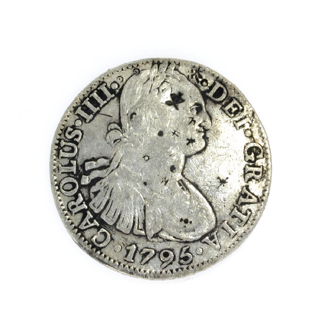 1795 Eigth Reales American First Silver Dollar Coin