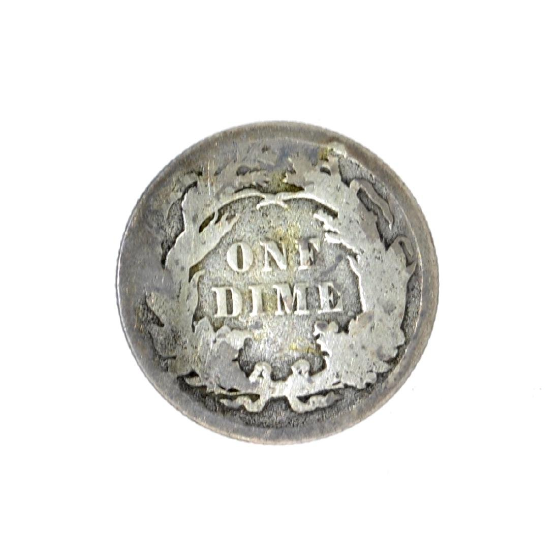 1889 Liberty Seated Dime Coin - 2