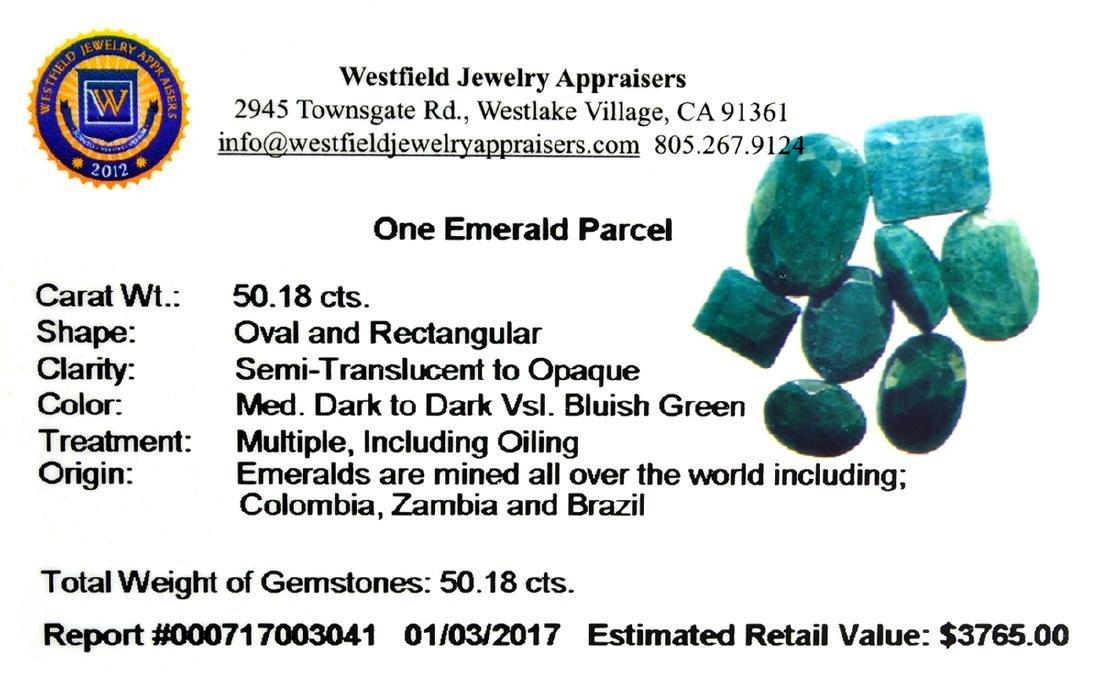 APP: 3.8k 50.18CT Green Emerald Parcel - 2