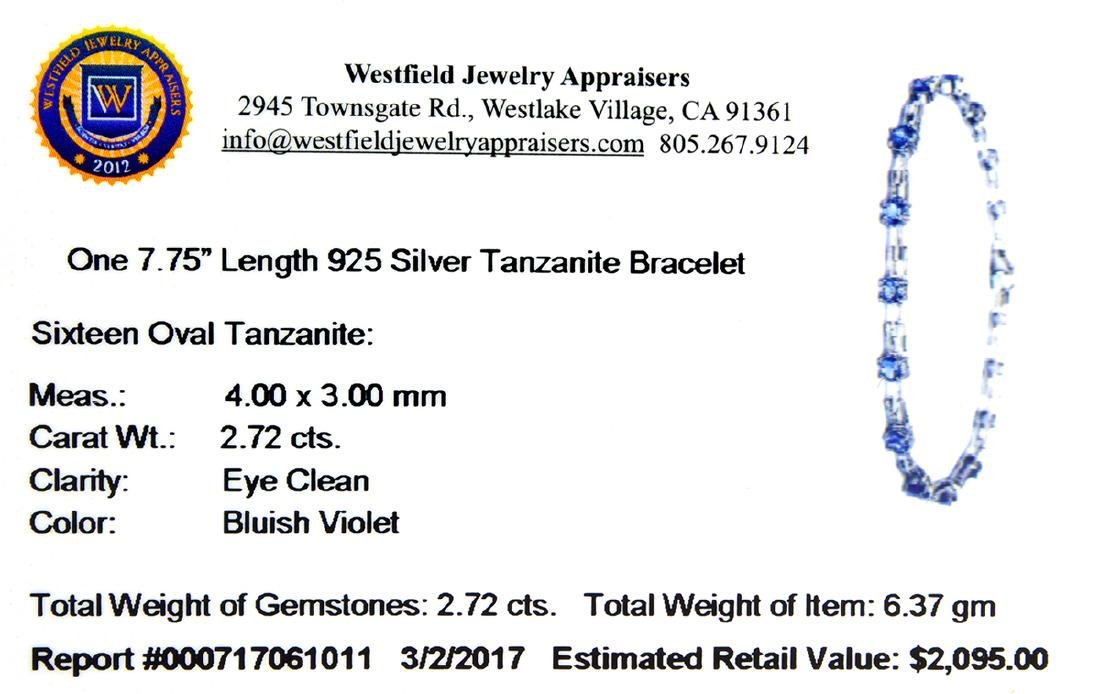 APP: 2.1k Fine Jewelry 2.72CT Oval Cut Tanzanite And - 2