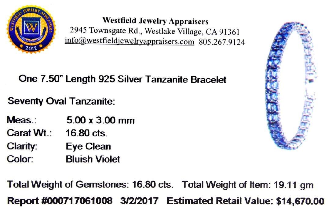 APP: 14.7k Fine Jewelry 16.80CT Oval Cut Tanzanite And - 2