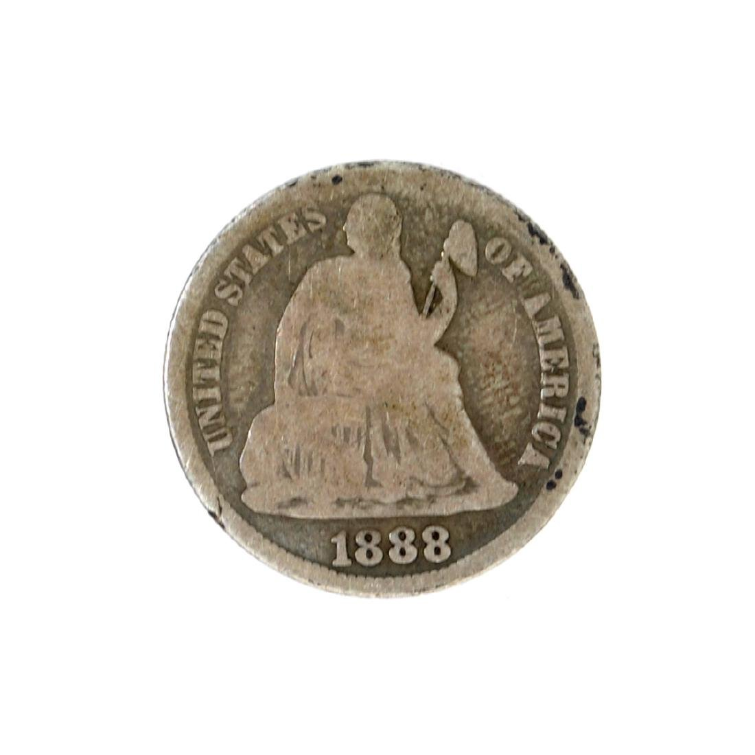 1888-S Liberty Seated Dime Coin