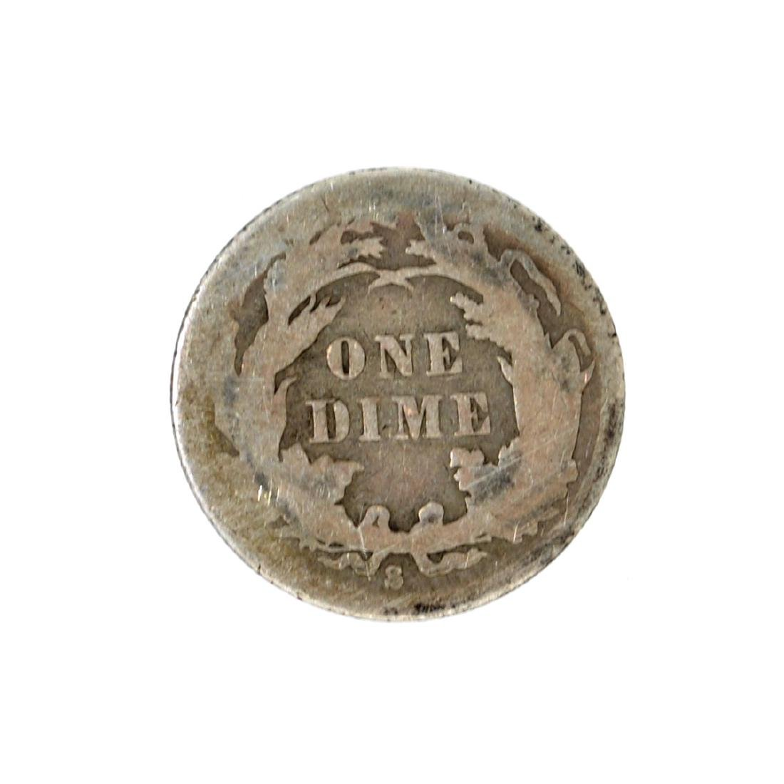 1888-S Liberty Seated Dime Coin - 2