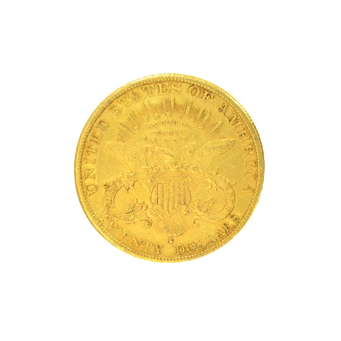 *1890-S $20 U.S. Liberty Head Gold Coin (DF) - 2