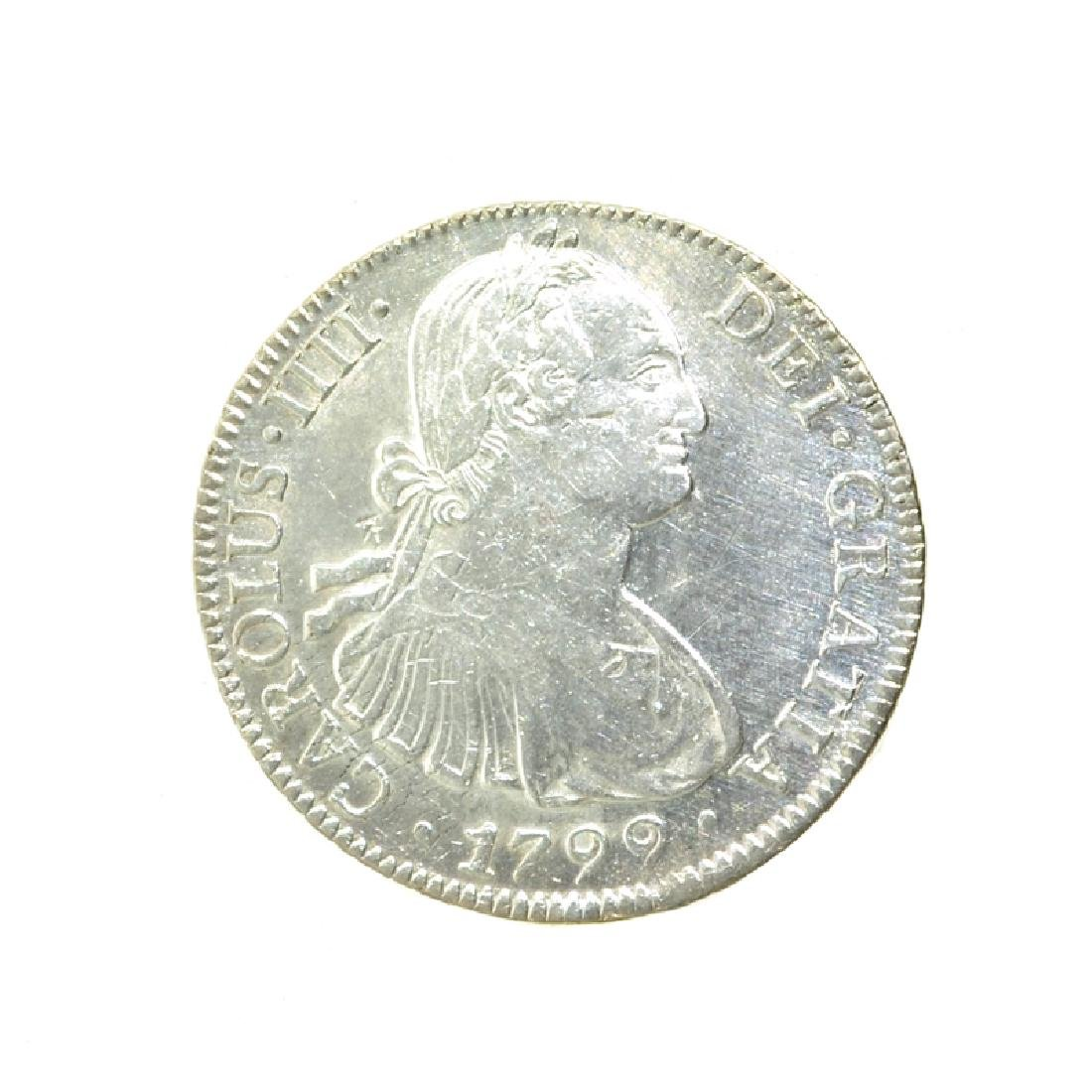 1799 Extremely Rare Eight Reales American First Silver
