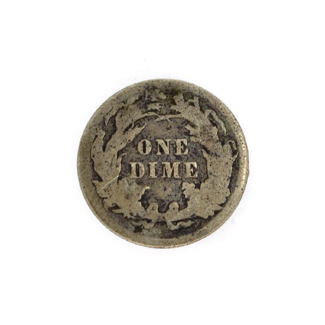 Rare 1887 Liberty Seated Dime Coin - 2