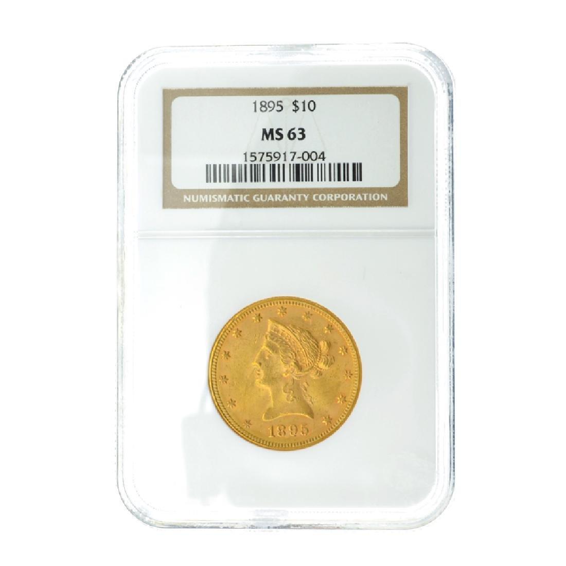 *1895 $10 U.S. MS 63 Liberty Head Gold Coin (DF)