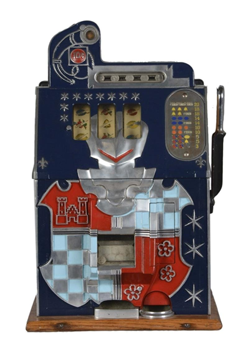 Extremely Rare 10¢ Mills Castle Front Slot Machine -P-