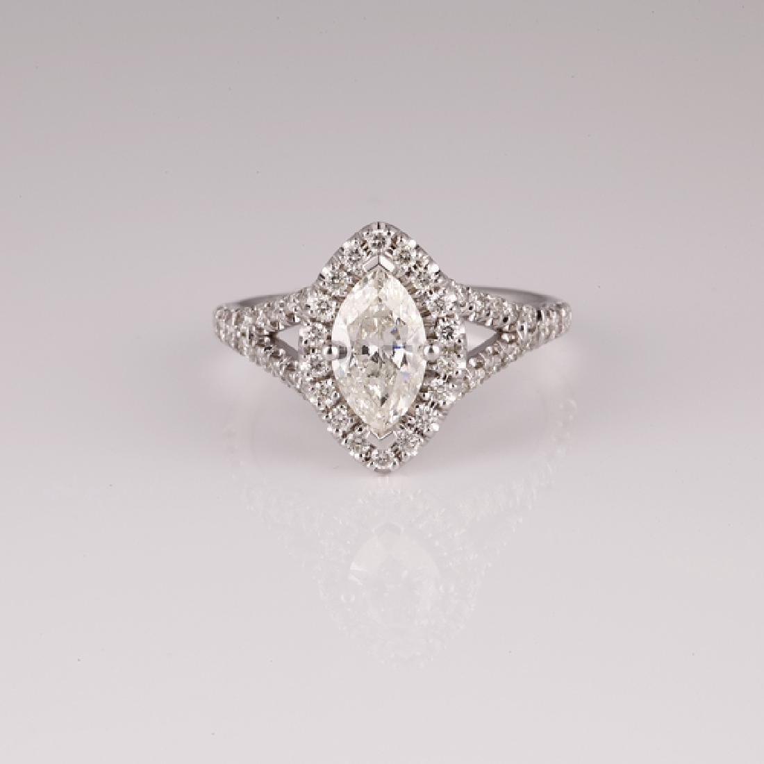 APP: 7k *14 kt. White Gold, 1.40CT Diamond Ring (NG