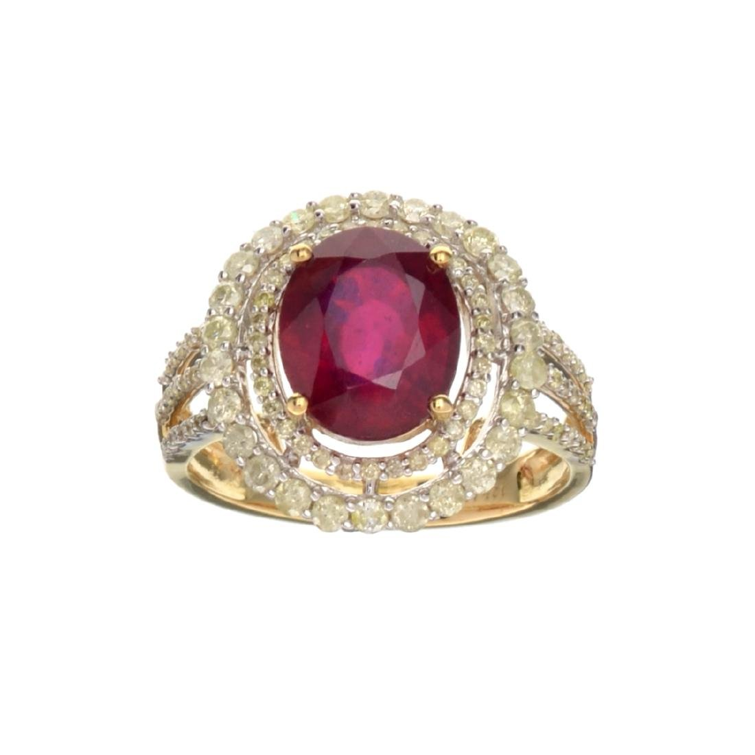 APP: 3.1k *Fine Jewelry, 14KT Gold, 3.70CT Oval Mixed