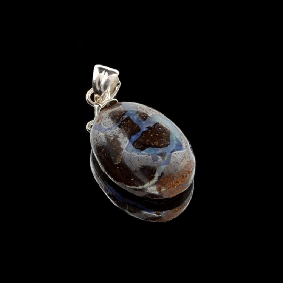 6.95CT Boulder Opal Sterling Silver Pendant
