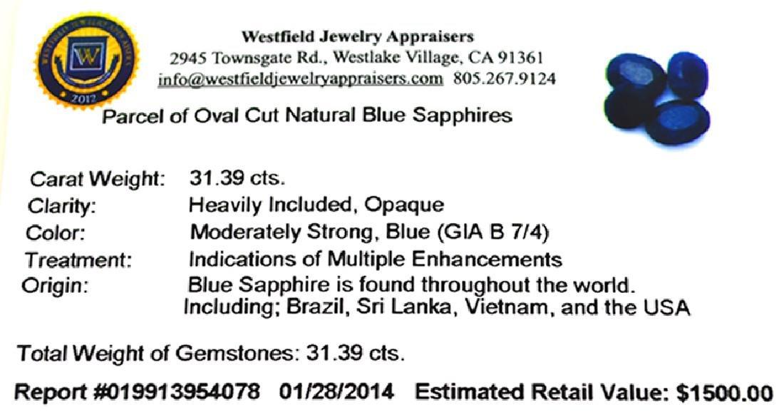 APP: 1.5k 31.39CT Oval Cut Blue Sapphire Parcel - 2