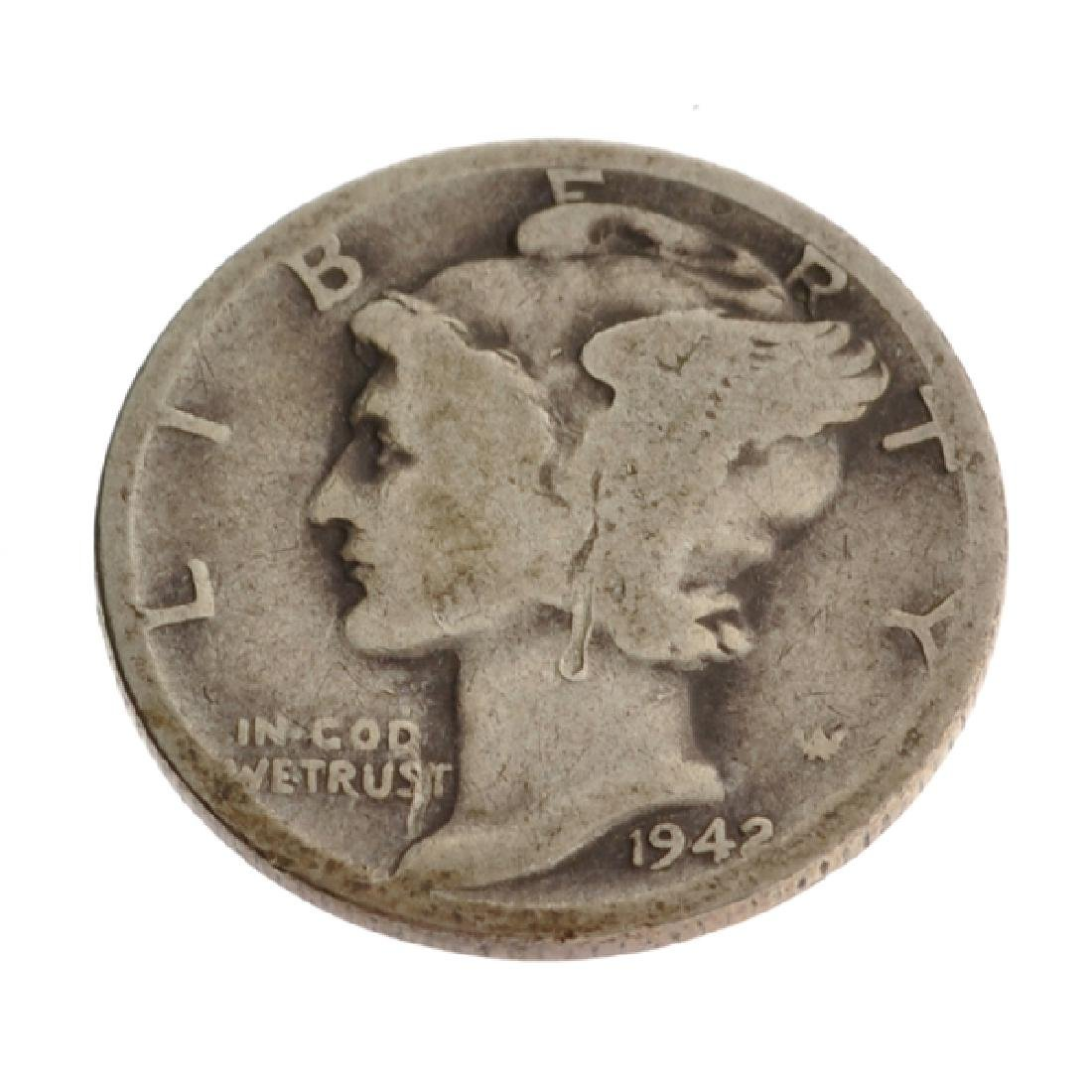 1942-D Rare Museum Winged Liberty Head Type One Dime