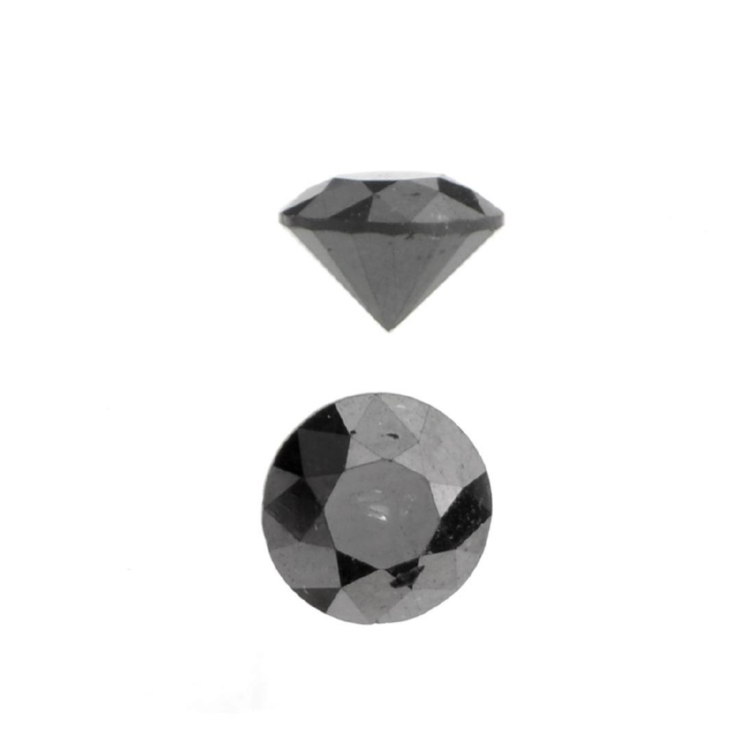 APP: 0.9k 1.01CT Round Cut Black Diamond Gemstone