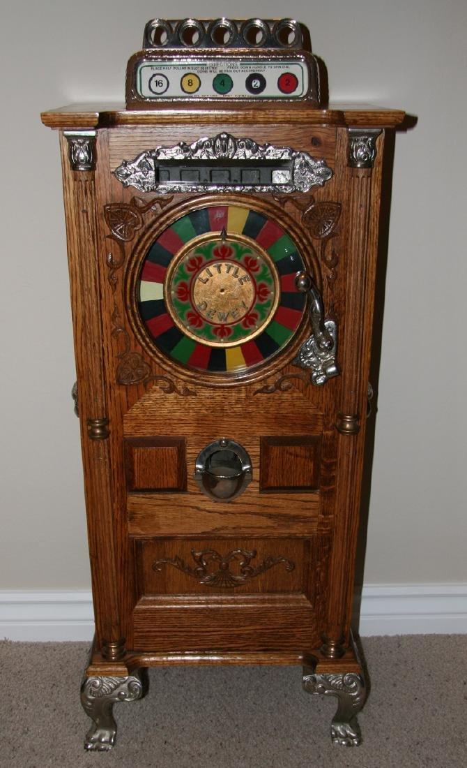 Antique Style Miniature 50 Cent Dewey Upright Slot