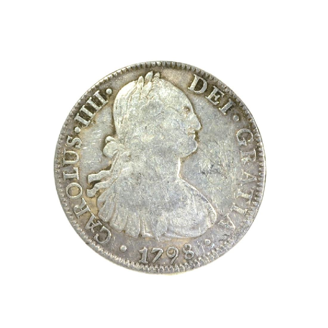 1798 Eigth Reales American First Silver Dollar Coin