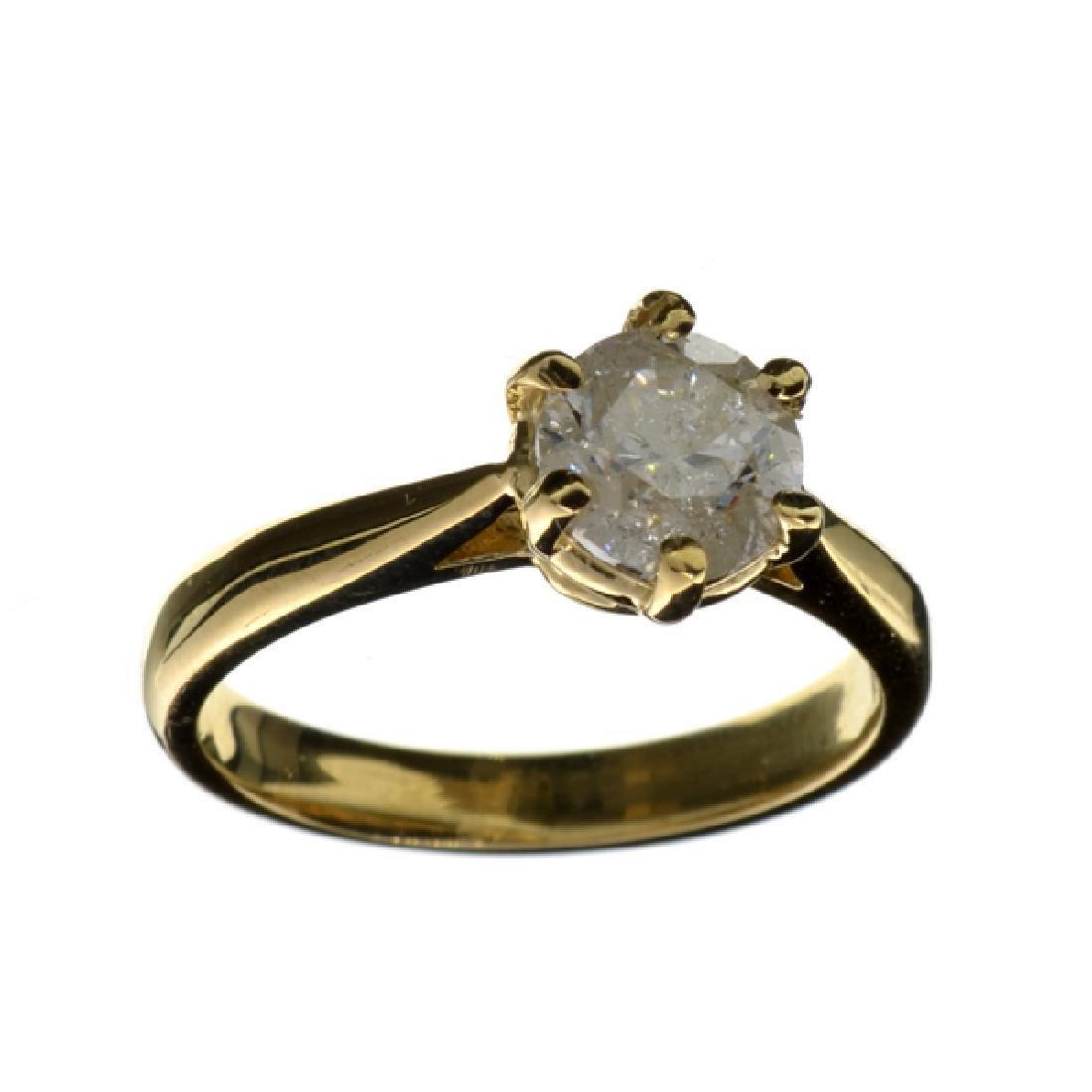 APP: 6.6k 14 kt. Gold, 1.13CT Round Cut Diamond Ring