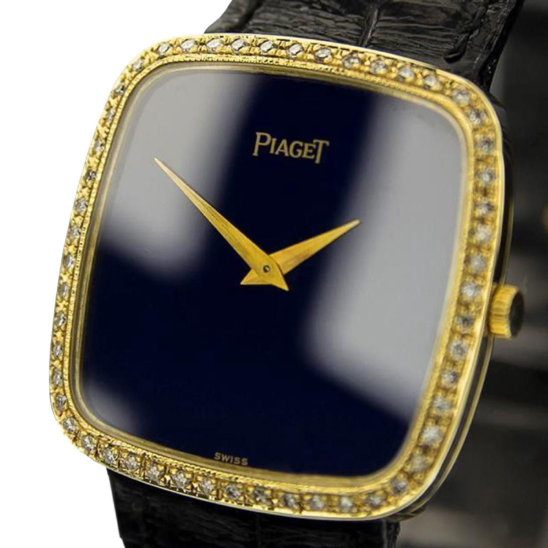 *Piaget 9772 Mens Diamond 18k Solid Gold Manual Wind