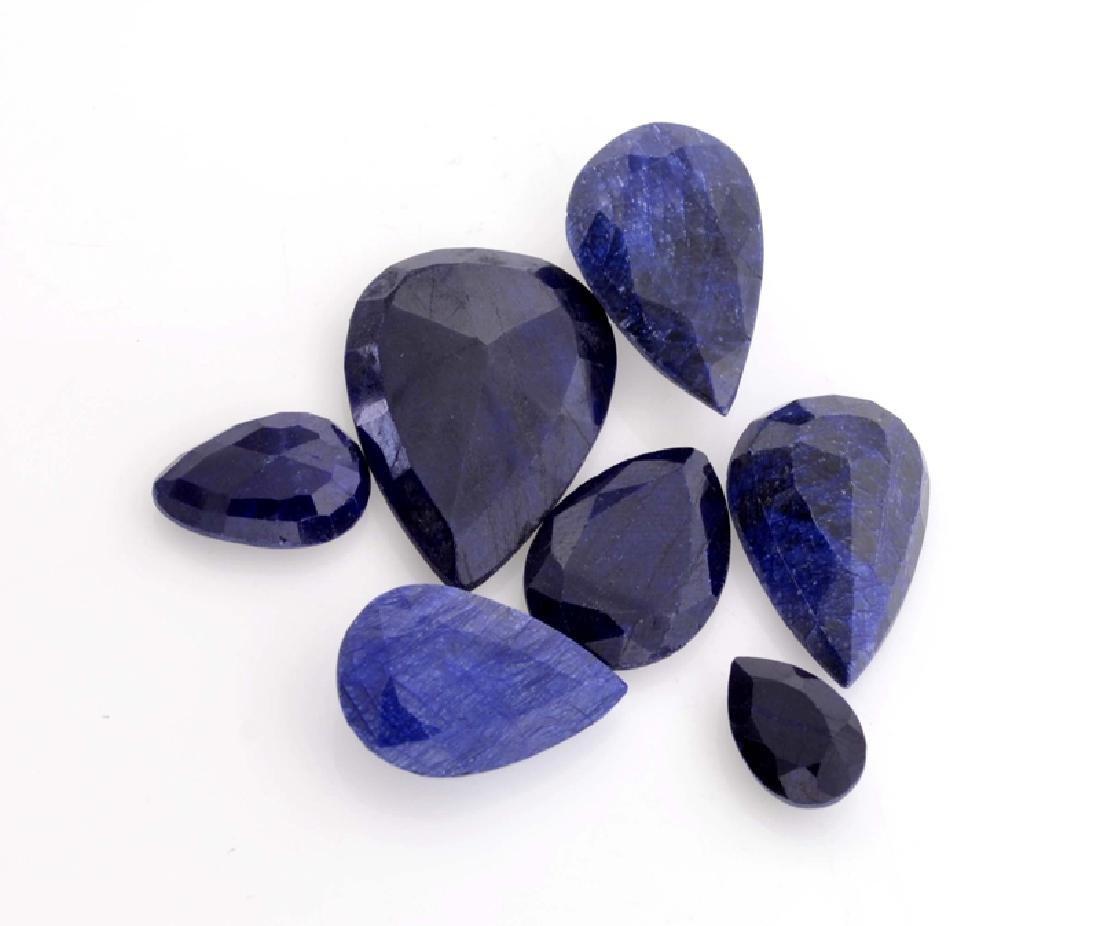 APP: 0.5k 106.50CT Pear Cut Blue Sapphire Parcel
