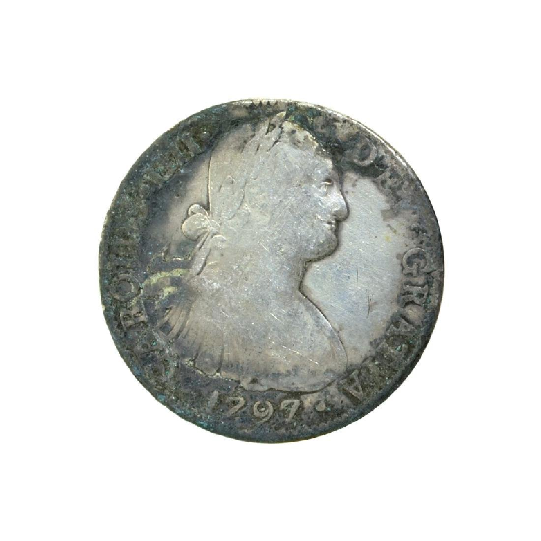 1797 Extremely Rare Eight Reales American First Silver