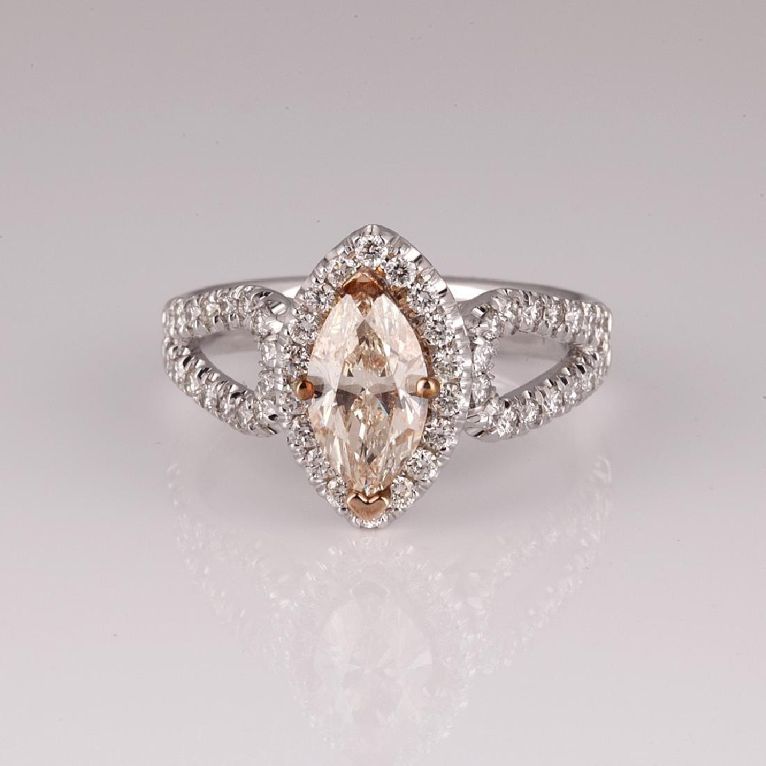 APP: 9.9k *14 kt. Two Tone Gold, 1.43CT Diamond Ring(NG