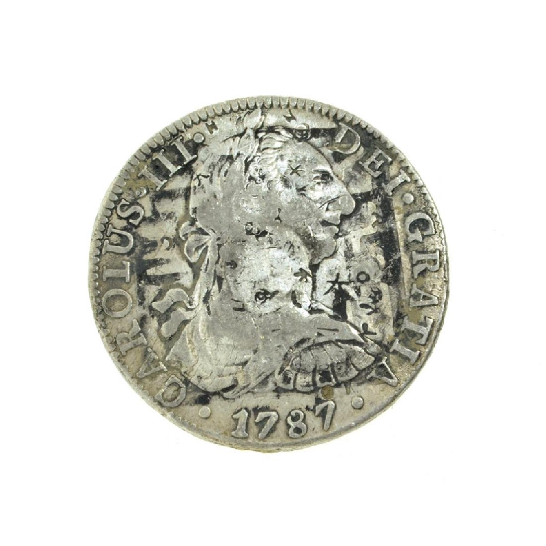 1787 Extremely Rare Eight Reales American First Silver