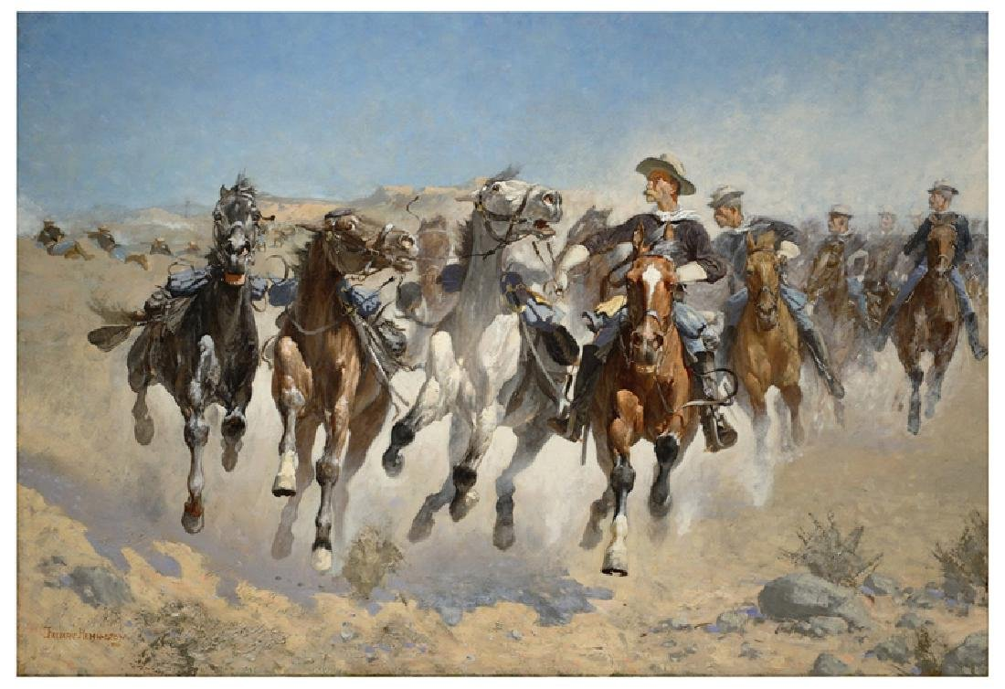 FREDERIC REMINGTON (After) Dismounted Print, 28'' x