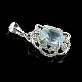 APP: 0.7k Fine Jewelry 2.34CT Aqua Marine Beryl And